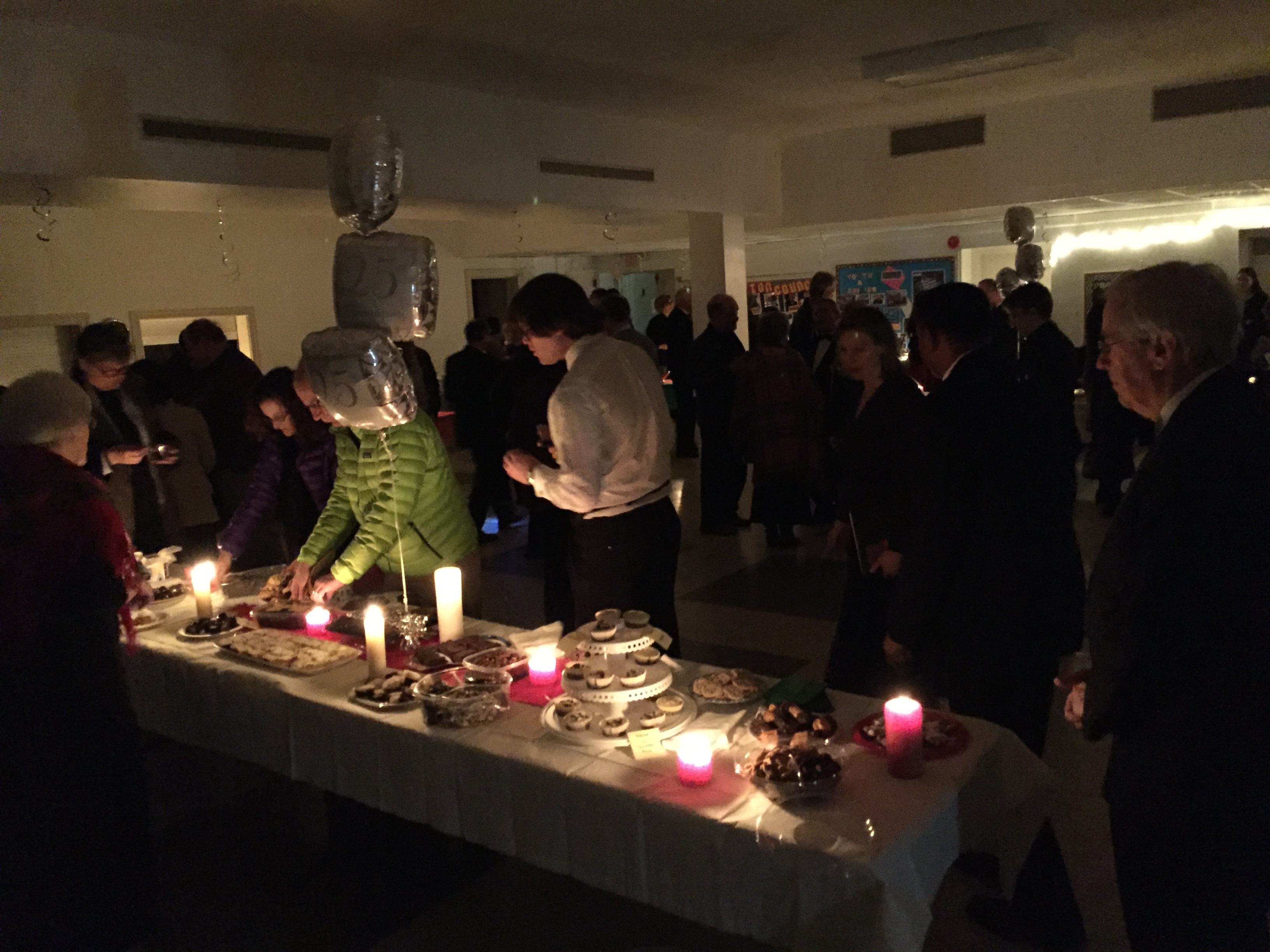 Candlelight reception
